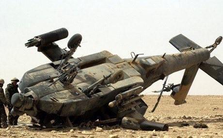 Photo of The Saudi Black Hawk crash by friendly fire