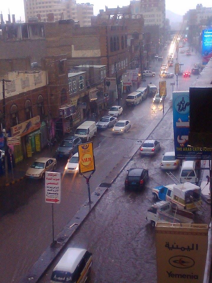 Photo of أمطار غزيرة تهطل على العاصمة صنعاء )صور(