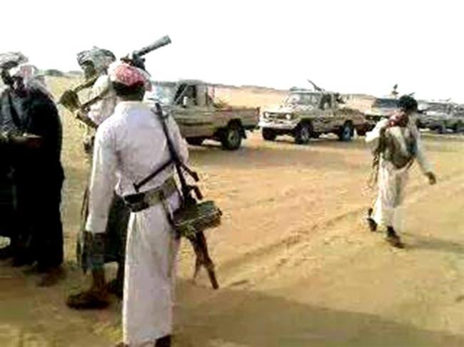 Photo of violent clashes between the tribes loyal to coalition of Jahm and Ubaidah