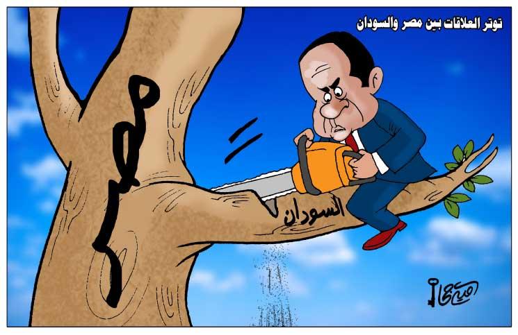 Photo of توتر العلاقات المصرية السودانية)كاريكاتير القدس العربي(