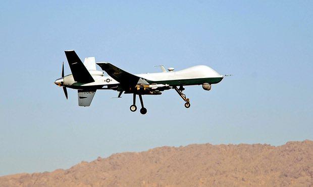 Photo of U.S. drone strikes al-Qaida vehicle in Yemen