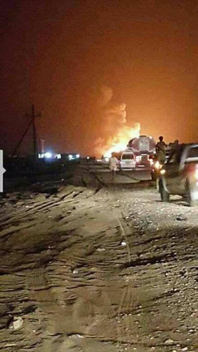 بالفيديو..حريق يلتهم سوق صافر القريب من المنشأة النفطية شرق مأرب