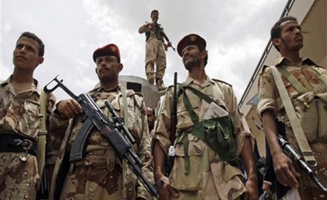 Photo of Yemen Army conduct live fire exercise codenamed 'Countering US Terrorism'
