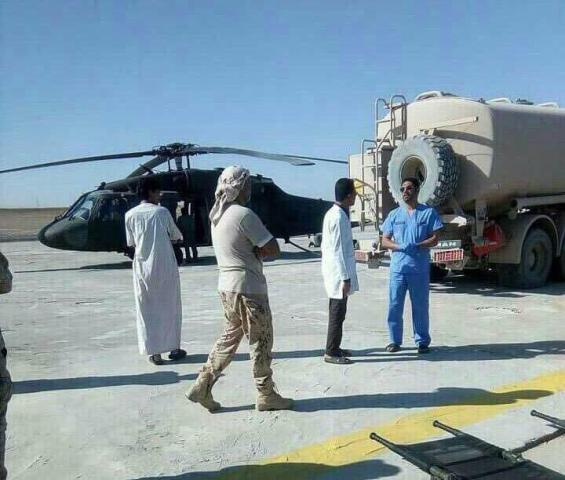 Photo of قيادي برتبة اللواء تابع لتحالف يغادر إلى الرياض بعد تعرضه للإصابة