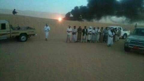 Photo of اليمن: قبائل شبوة تفجر أنبوب النفط الممتد من عسيلان مأرب رداً على سلطان العرادة