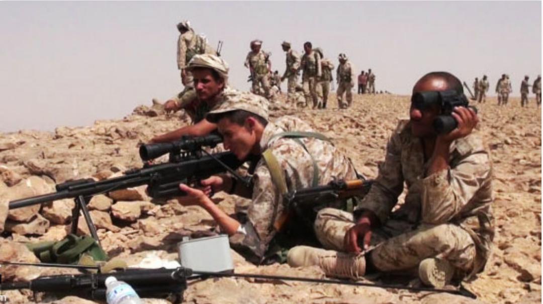 "Photo of القوات اليمنية تسيطر على مواقع""هامة""في جبهة عسير"