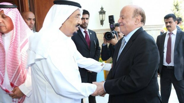Photo of شاهد: هادي يعترف أن الملك السعودي هو من يقود اليمن