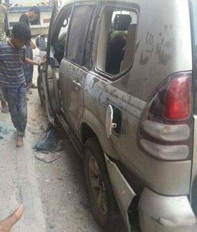 Photo of عدن:عبوة ناسفة تنفجر بسيارة قيادي في حزب الإصلاح