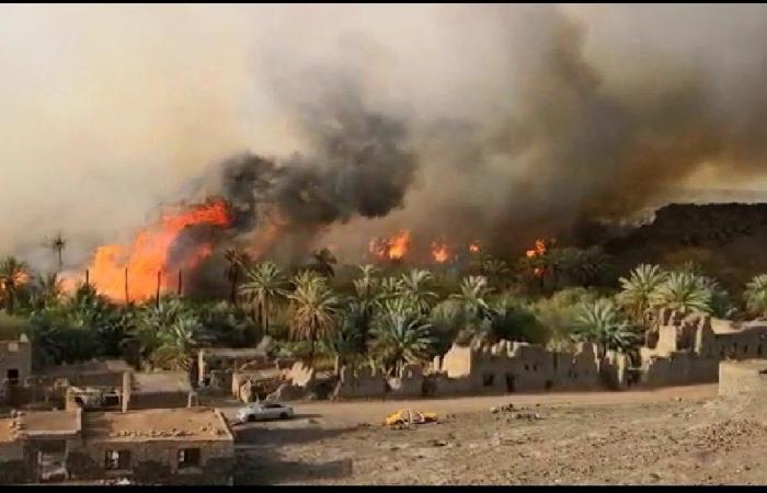 Photo of لليوم الخامس على التوالي..حرائق مستمرة في خيبر السعودية
