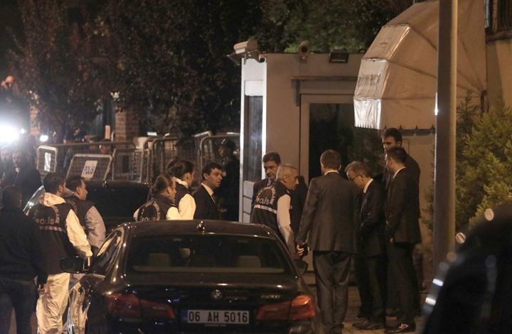 Photo of دخول فرق التحقيق الجنائي التركية للقنصلية