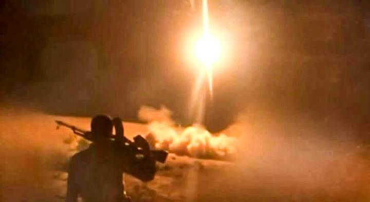 صاروخ زلزال1 يستهدف تجمعات قوات هادي في صرواح مأرب