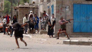 Photo of عدن| قتلى وجرحى في اشتباكات عنيفة بين مسلحين في سوق عام