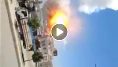 Photo of شاهد لحظة استهداف طيران التحالف مدرسة للبنات شمال صنعاء