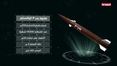 Photo of بعد ساعات من صاروخ كروز على محطة كهرباء.. صنعاء تستهدف الجيش السعودي ببالستي