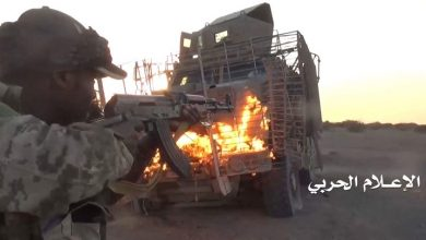 Photo of قوات صنعاء تدمر مدرعة سعودية محملة بالجنود