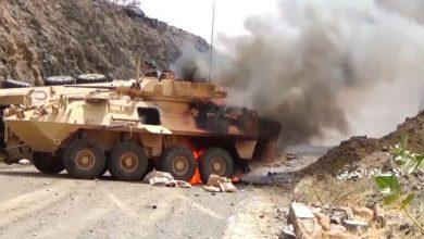 "Photo of شاهد  قوات صنعاء تحرق آليات سعودية في مشاهد جديدة لعملية ""نصر من الله"""