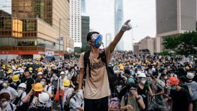Photo of محتجو هونغ كونغ يحتشدون تأييدا لأقلية الإيغور المسلمة