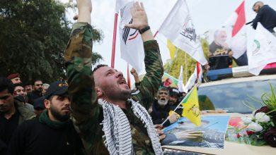 "Photo of حشود ضخمة تشيع جثامين ""قاسم سليماني"" وأبو ""مهدي المهندس"" في كربلاء"