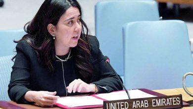 Photo of السفيرة الإماراتية بالأمم المتحدة تشجع على التعاون والتطبيع مع الاحتلال الاسرائيلي