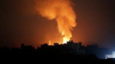 "Photo of تحليق مستمر.. طيران ""التحالف"" يشن غارات على أماكن متفرقة في صنعاء"